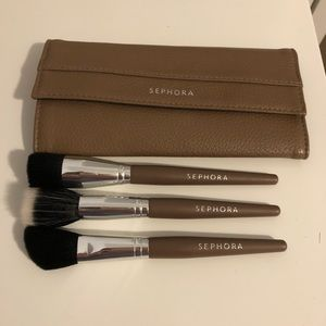 Sephora Makeup - Sephora Contouring Brush Set with Travel Pouch
